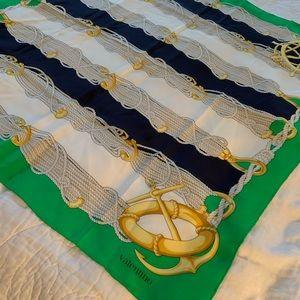 Valentino 100% Silk Scarf - Nautical Theme